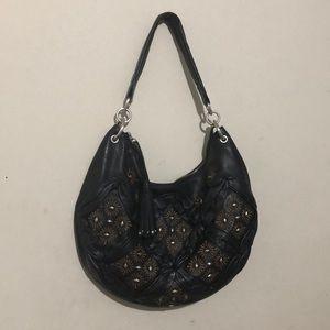 Fiore by Isabella Fiore Black Leather Purse